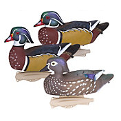 Flambeau Storm Front Classic Wood Duck Decoys - 6 Pack