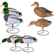Flambeau Storm Front Flocked Head Mallard Duck Decoy – 6 Pack