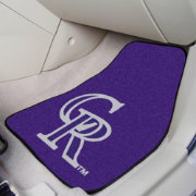 FANMATS Colorado Rockies Printed Car Mats 2-Pack