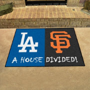 FANMATS Los Angeles Dodgers-San Francisco Giants House Divided Mat