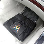 Miami Marlins Heavy Duty Vinyl Car Mats 2-Pack