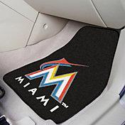 FANMATS Miami Marlins Printed Car Mats 2-Pack