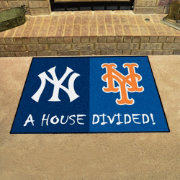 FANMATS New York Yankees-New York Mets House Divided Mat
