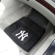 New York Yankees Heavy Duty Vinyl Car Mats 2-Pack