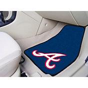 FANMATS Atlanta Braves Printed Car Mats 2-Pack