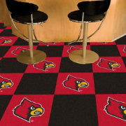 Louisville Cardinals Team Carpet Tiles