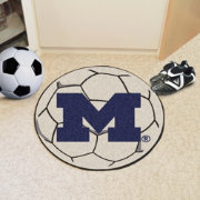 FANMATS Michigan Wolverines Soccer Ball Mat