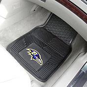 FANMATS Baltimore Ravens 2-Piece Heavy Duty Vinyl Car Mat Set