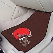 FANMATS Cleveland Browns 2-Piece Printed Carpet Car Mat Set
