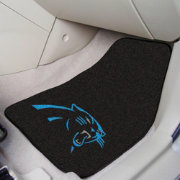 FANMATS Carolina Panthers 2-Piece Printed Carpet Car Mat Set