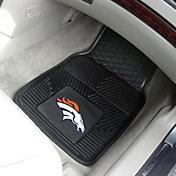Denver Broncos 2-Piece Heavy Duty Vinyl Car Mat Set