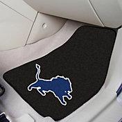 FANMATS Detroit Lions 2-Piece Printed Carpet Car Mat Set