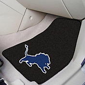 FANMATS Detroit Lions 2-Piece Printed Carpet Car Mat Set