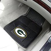 Green Bay Packers 2-Piece Heavy Duty Vinyl Car Mat Set