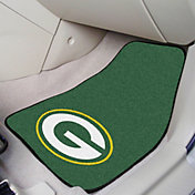FANMATS Green Bay Packers 2-Piece Printed Carpet Car Mat Set