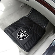 Oakland Raiders 2-Piece Heavy Duty Vinyl Car Mat Set