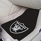 FANMATS Oakland Raiders 2-Piece Printed Carpet Car Mat Set