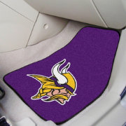 Minnesota Vikings 2-Piece Printed Carpet Car Mat Set