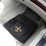New Orleans Saints 2-Piece Heavy Duty Vinyl Car Mat Set