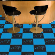 FANMATS Carolina Panthers Team Carpet Tiles