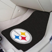 FANMATS Pittsburgh Steelers 2-Piece Printed Carpet Car Mat Set