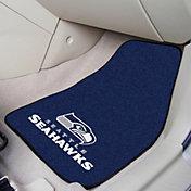 FANMATS Seattle Seahawks 2-Piece Printed Carpet Car Mat Set