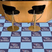 FANMATS Tennessee Titans Team Carpet Tiles