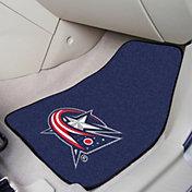 FANMATS Columbus Blue Jackets Two Piece Printed Carpet Car Mat Set