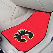 FANMATS Calgary Flames Two Piece Printed Carpet Car Mat Set