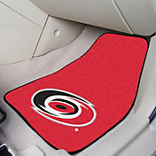 FANMATS Carolina Hurricanes Two Piece Printed Carpet Car Mat Set