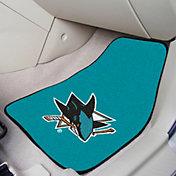 San Jose Sharks Two Piece Printed Carpet Car Mat Set