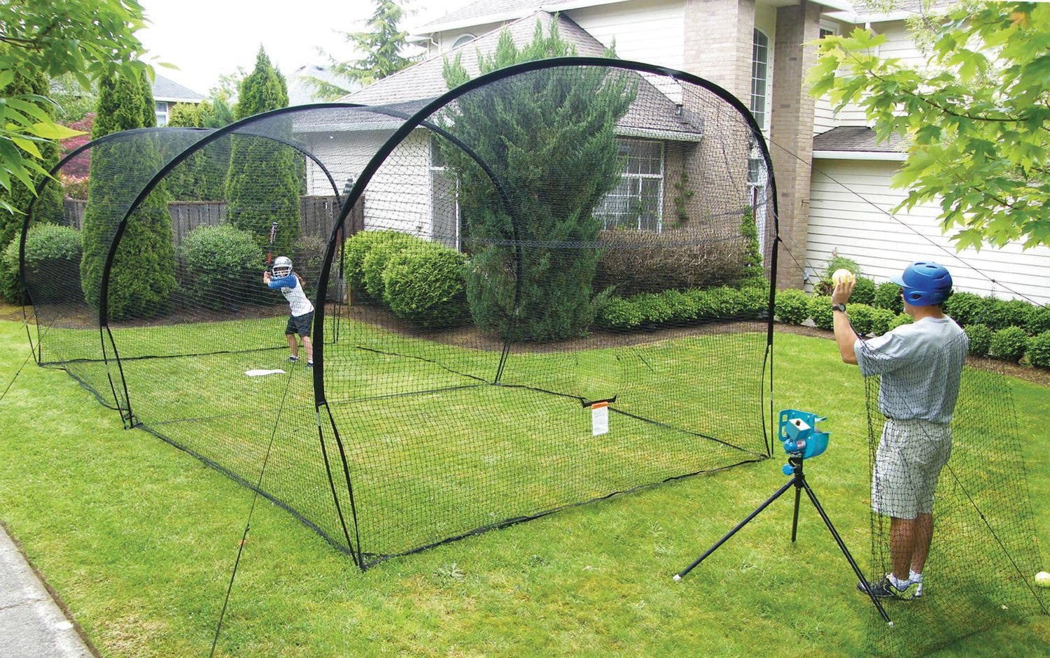 home batting cages practice a5050 backyard batting cage s 1654