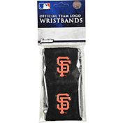 "Franklin San Francisco Giants Black 2.5"" Wristbands"