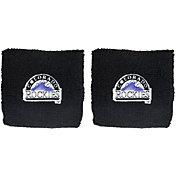 "Franklin Colorado Rockies Black 2.5"" Wristbands"