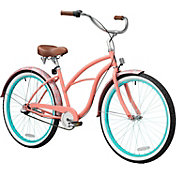 Firmstrong Women's 26'' Paisley Three Speed Beach Cruiser Bike