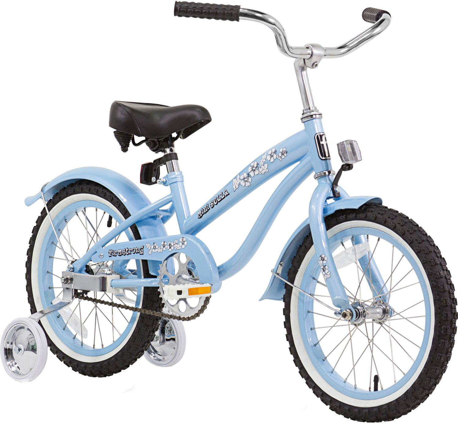 Firmstrong Girls Mini Bella Single Speed Beach Cruiser Bike