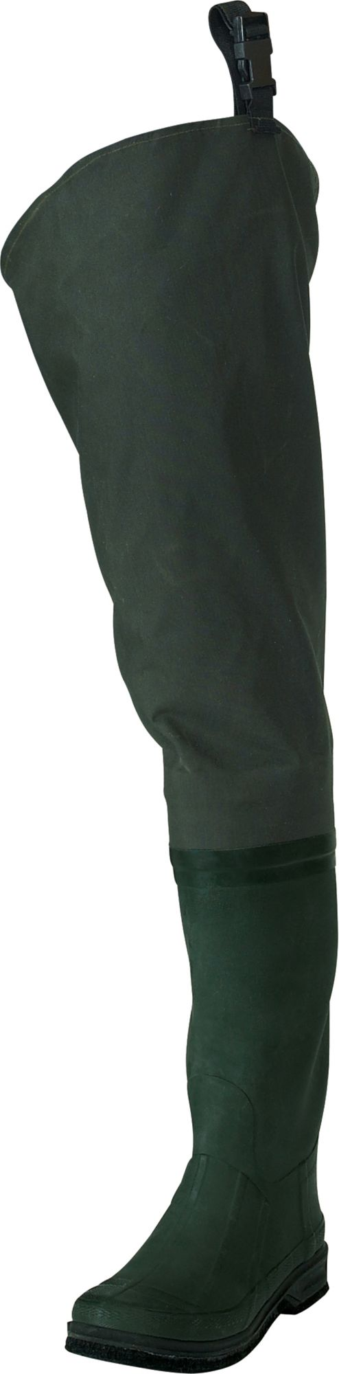 frogg toggs Youth Cascades Rubber Hip Waders, Dark Green/Green thumbnail