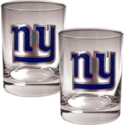 Great American Products New York Giants 2-Piece Logo Rocks Glass Set