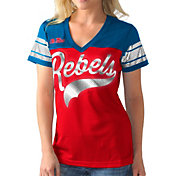 G-III For Her Women's Ole Miss Rebels Red/Blue Pass Rush T-Shirt