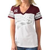 G-III For Her Women's Mississippi State Bulldogs White/Maroon Pass Rush T-Shirt