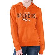 G-III for Her Women's Denver Broncos Wildcat Orange Full-Zip Hoodie