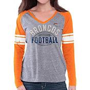 G-III for Her Women's Denver Broncos Tri-Blend Franchise Grey Long Sleeve Shirt