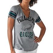 G-III for Her Women's Philadelphia Eagles Any Sunday Grey T-Shirt