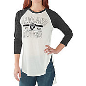 G-III for Her Women's Oakland Raiders Tailgate Raglan T-Shirt