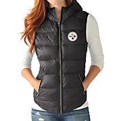 G-III for Her Women's Pittsburgh Steelers Free Agent Black Packable Vest