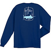 Guy Harvey Men's Barrel Logo Long Sleeve Shirt