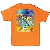 Guy Harvey Men's Blue Panama T-Shirt
