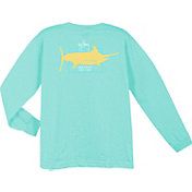 Guy Harvey Boys' GH Logo Long Sleeve Shirt