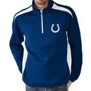 G-III Men's Indianapolis Colts Hail Mary Half-Zip Blue Pullover