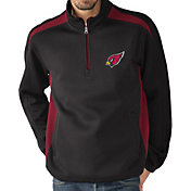 G-III Men's Arizona Cardinals Hail Mary Half-Zip Black Pullover